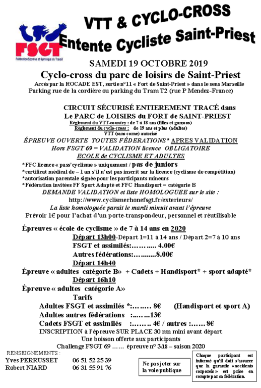 Cyclo Cross de St Priest